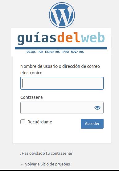 Como insertar un logotipo en WordPress