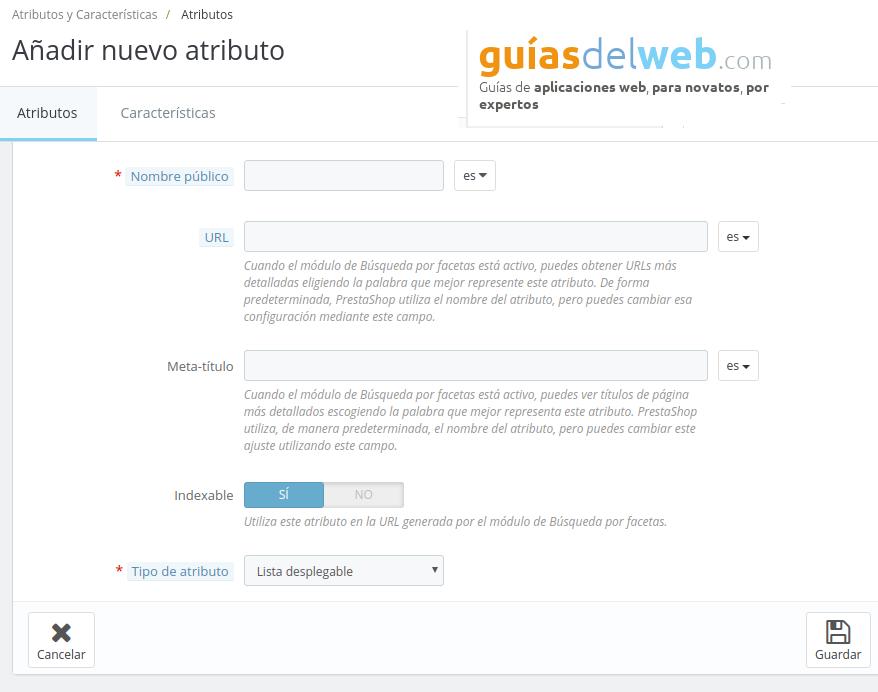 Cómo activar la opcion atributos en la etiqueta meta título del producto