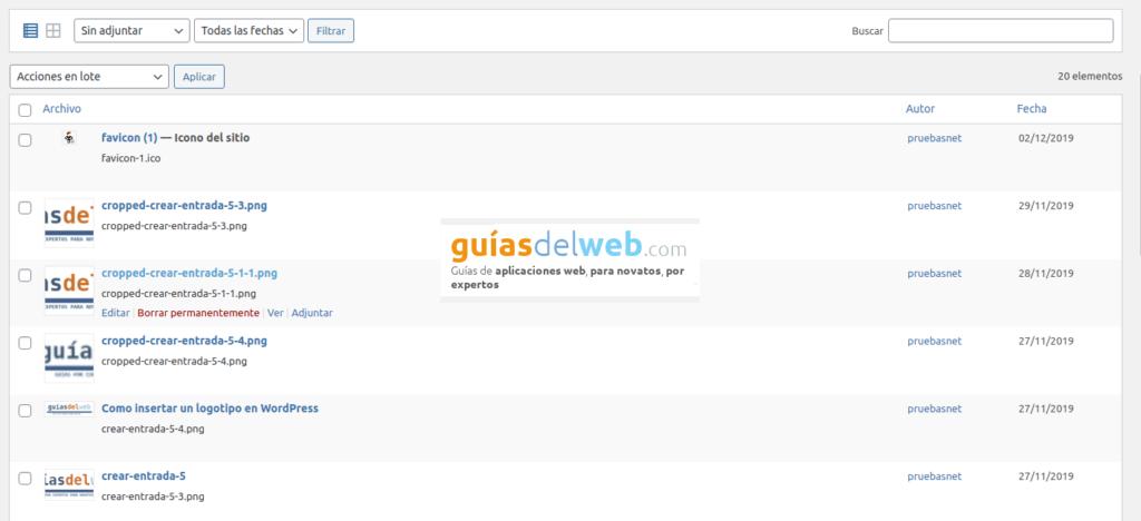 Cómo borrar de forma masiva varias imágenes en WordPress