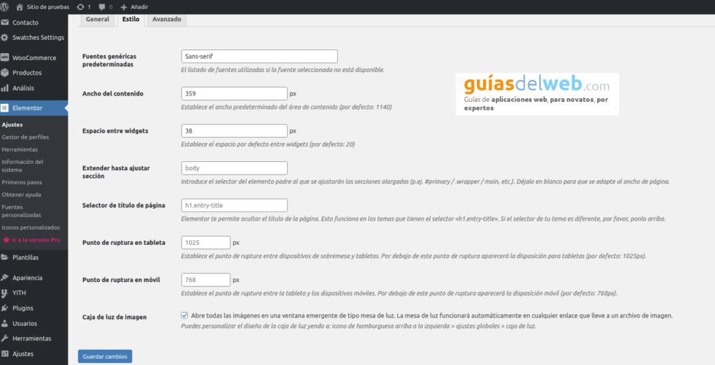 Cómo instalar y configurar el plugin Elementor en WordPress